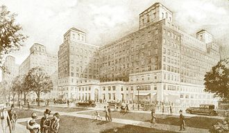 Grosvenor House Hotel - Grosvenor House Hotel, 1920s postcard illustration