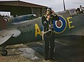 Ground Crew Working on Fleet Air Arm Aircraft at Rnas Yeovilton, September 1943 TR1276.jpg