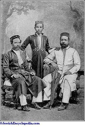 Cochin Jews - Group of Cochin Jews, c. 1900