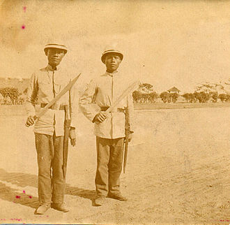 Cebuano people - Cebuano men who served as guards in the early 20th century during the American period.