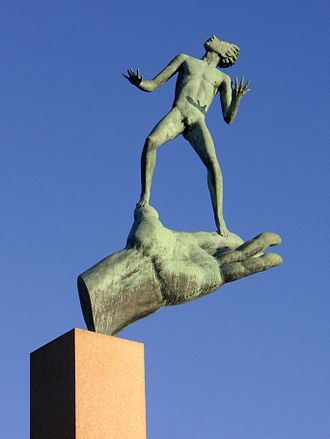 Millesgården - God's Hand, sculpture by Carl Milles, on permanent display at Millesgården.