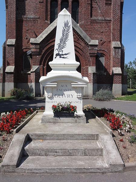 Guivry (Aisne) monument aux morts