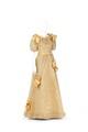 Gul klänning, tvådelad av sidensatin med vitgrå silkegas med effektrand i gult - Hallwylska museet - 89261.tif