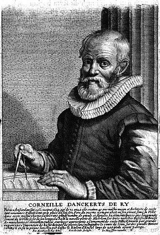 Cornelis Danckerts de Ry - Portrait of Cornelis Danckerts de Ry in Het Gulden Cabinet, by Pieter de Jode II after a portrait by his son Pieter.