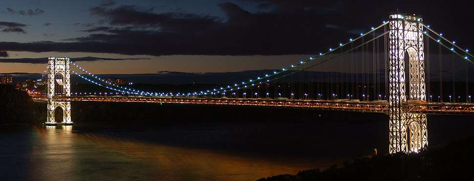 From Riverside Drive, at night