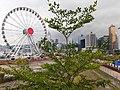 HK 中環 Central 民耀街 Man Yiu Street footbridge view Waterfront Promenade big eye March 2020 SS2 02.jpg