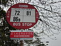 HK 大埔道 Tai Po Road SCAD Hong Kong 九巴 KMBus stop 72 81 86B signs April-2012.JPG
