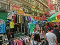 HK 灣仔街市 Wan Chai Market 太原街 Tai Yuen Street clothing stall n visitors Apr-2014.JPG