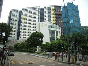 Kennedy Town - Kwun Lung Lau, viewed from Smithfield.
