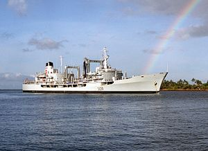 HMCS Provider (AOR 508) at Pearl Harbor 1986.jpg