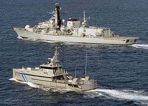 Damen Stan 3007 patrol vessel - In front of Cabo Verde patrol vessel P511 Guardião