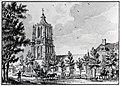 HUA-107569-Gezicht op de zuid en de oostgevel van de toren en de zuidgevel van het schip van de Nederlands Hervormde kerk Lobbendijk 1 te Houten uit het zuidoost.jpg