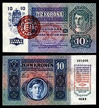 HUN-19-Provisional-10 Korona (1920) .jpg