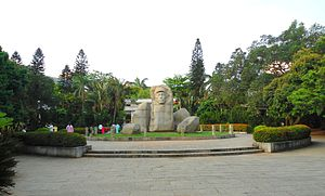 People's Park (Haikou) - Monument of Feng Baiju at summit plateau