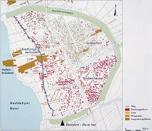 Haithabu Karte.Haithabu Wikipedia