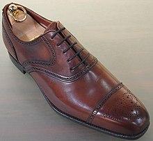 Half Brogue Shoes Black