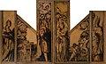 Hans Holbein d. J. - Kaiserin Kunigunde und Kaiser Heinrich II. vor dem Münsterchor (linker Flügel); Madonna mit Kind, musizierende Engel und der hl. Pantalus (rechter Flügel), um 1525-26 oder 1528.jpg