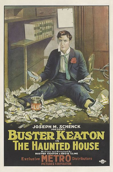 Film poster from Buster Keaton's Haunted House,1921