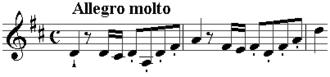 Symphony No. 13 (Haydn) - Image: Haydn symph 13 opening