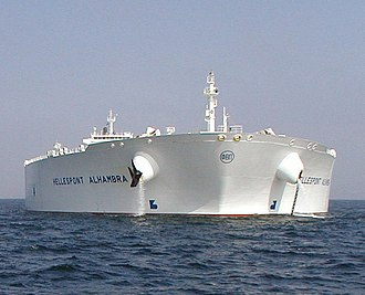 Oil tanker - Hellespont Alhambra (now TI Asia), a ULCC TI-class supertanker, which are the largest ocean-going oil tankers in the world