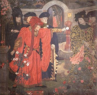 Plucking the Red and White Roses in the Old Temple Gardens - Image: Henry Arthur Payne Plucking the Red and White Roses in the Old Temple Gardens