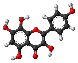 Herbacetin - Image: Herbacetin 3D balls