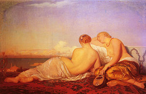 Ernest Hébert - Two Odalisques Contemplating the Bosphorus, 1843