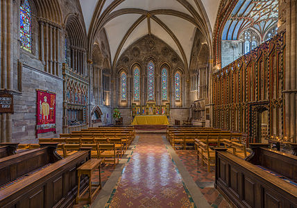 The lady chapel at Hereford Cathedral, Herefordshire, England.