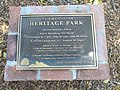 Heritage Park, Mountain View, California, historical dedication plaque, June 2019.jpg