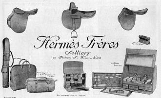 Hermès - Hermès Frères advertisement, 1923