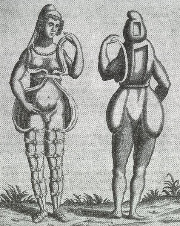 Hermaphrodite engraving circa 1690