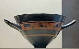 Hermogenes (potter) - Hermogenes skyphos Louvre S1836