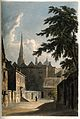 Hertford College, Oxford. Coloured aquatint by J.C. Stadler. Wellcome V0014115.jpg