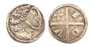 John I, Duke of Brabant - Silver or 'petit' denier, struck under John I in Leuven after 1282.
