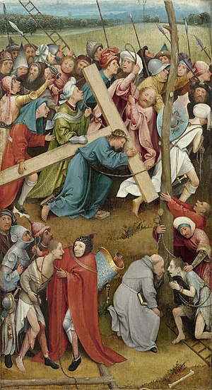 Christ Carrying the Cross (Bosch, Vienna) - Image: Hieronymus Bosch 054