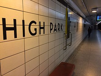 High Park station - Designated waiting area