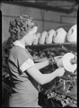 High Point, North Carolina - Textiles. Pickett Yarn Mill. Winder operator - highly skilled - showing hands in... - NARA - 518521.tif