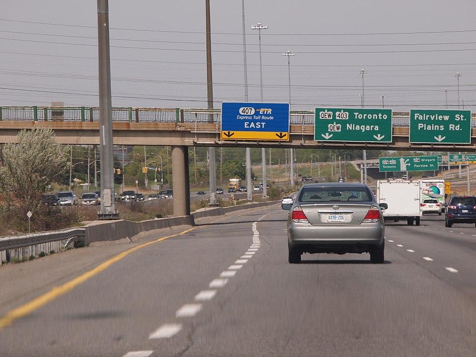Highway 403 at Highway 407