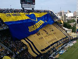 Boca Juniors  supporters displaying their flags at La Bombonera (north  side) ab75af9201ca7