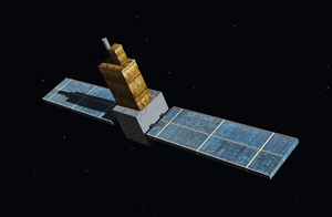 Hisaki (satellite) - Artistic rendering of Hisaki in orbit.