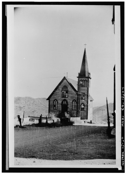 File:Historic American Buildings Survey, National Park Service, San Francisco Re-photo- May 1940 - Episcopal Church, D Street, Virginia City, Storey County, NV HABS NEV,15-VIRG,27-1.tif