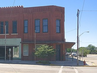 BancCentral National Association - This image is of the College Avenue facing (taken from the east side of the street camera facing the west) side of the Historic Central National Bank building in Alva, OK., Saturday, May 6, 2017. Currently this building houses the Sutter Law Office.