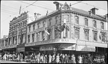 Hobart - Elizabeth Street - at Liverpool Street intersection shows Charles Davis store and Goldings corner (11279305173).jpg