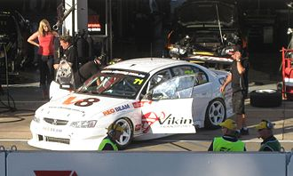 Super2 Series - The Holden VZ Commodore of Marcus Zukanovic at the Adelaide Parklands Circuit for the opening round of the 2010 Dunlop Super2 Series.