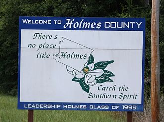 Holmes County, Mississippi - Image: Holmes County MS Welcome Sign