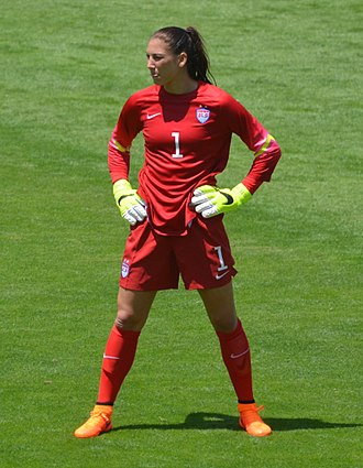 Squad number (association football) - Hope Solo displaying her squad number (1), as portrayed on her US national team jersey
