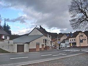 Hoppstädten-Weiersbach - Hoppstadten seen from the train stop