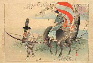 Kōgyo Tsukioka - Image: Horse Riding Competition (母衣引 Horohiki)