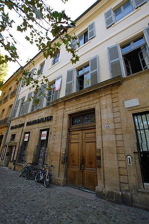 Hôtel de Suffren - Image: Hotel de suffren 40 cours mirabeau aix en provence