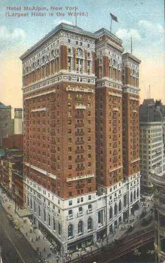 Hotel McAlpin - 1914 Postcard photo of the Hotel McAlpin
